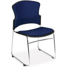 Multi-Use Stack Chair with Fabric Seat and Back - Navy