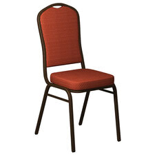 Crown Back Banquet Chair in Biltmore Calypso Fabric - Gold Vein Frame