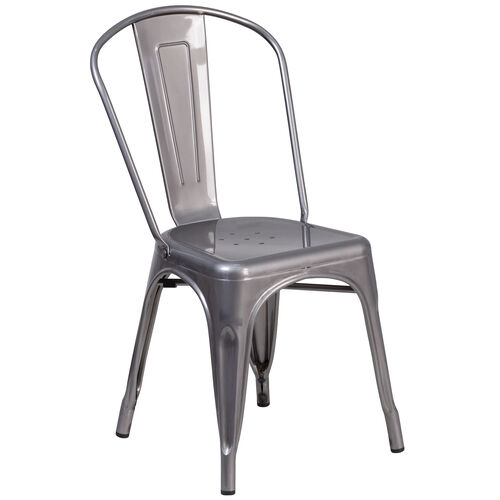 Our Clear Coated Metal Indoor Stackable Chair is on sale now.