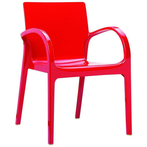 Dejavu Contemporary Polycarbonate Arm Chair