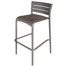 Riviera Collection Stackable Bronze Aluminum Outdoor Barstool