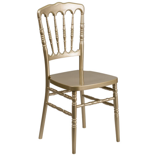 Our HERCULES Series Gold Resin Stacking Napoleon Chair with Double Rail Bracing is on sale now.