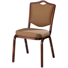 Burgess Como Premium Comfort Banquet Stacking Chair with Crown Back