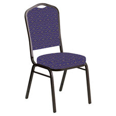 Crown Back Banquet Chair in Abbey Jazz Fabric - Gold Vein Frame