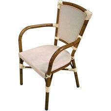 Key West Durable Indoor/ Outdoor Aluminum Stackable Arm Chair