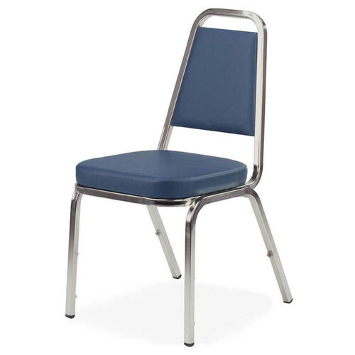 Our Lorell Blue Vinyl Upholstered Stack Chairs - Set of 4 is on sale now.