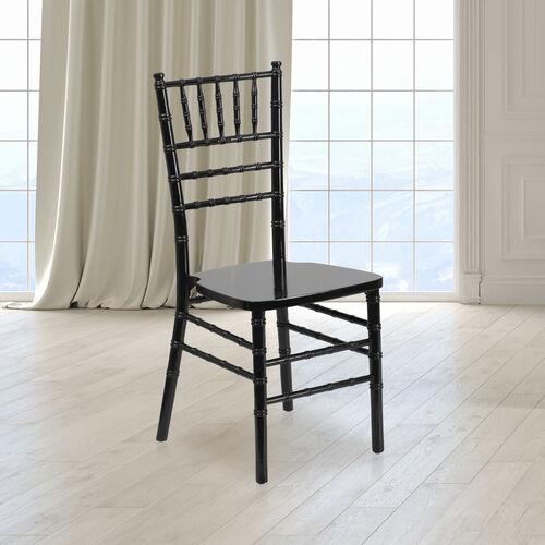 "HERCULES Series Black Wood Chiavari Chair with <span style=""color:#0000CD;"">Free </span> Cushion"