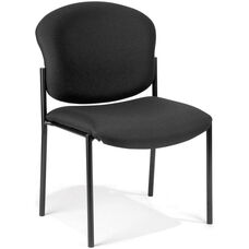 Manor Guest and Reception Chair - Black Fabric