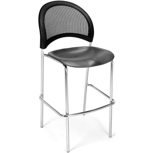 Our Moon Cafe Height Chair with Plastic Seat and Chrome Frame - Black is on sale now.