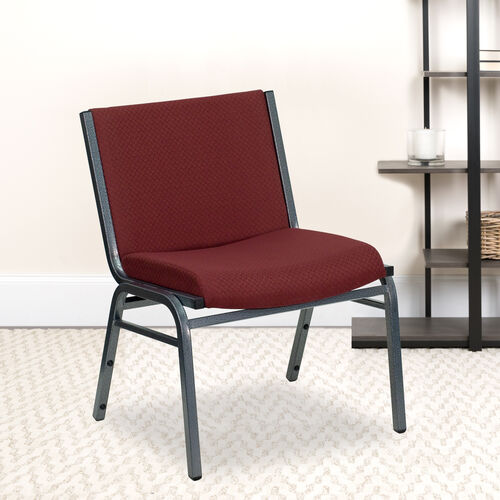 Our HERCULES Series Big & Tall 1000 lb. Rated Burgundy Fabric Stack Chair is on sale now.