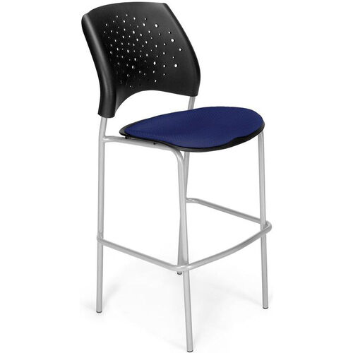 Our Stars Cafe Height Chair with Fabric Seat and Silver Frame - Navy is on sale now.