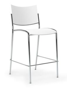 Escalate Stool with Plastic Seat - White
