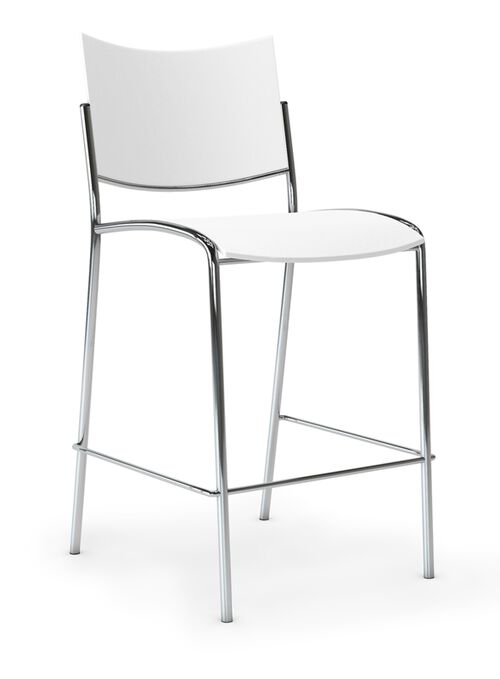 Our Escalate Stool with Plastic Seat - White is on sale now.