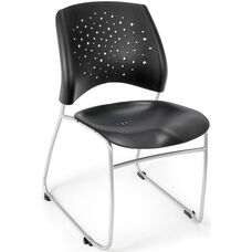 Stars Plastic Stack Chair - Black