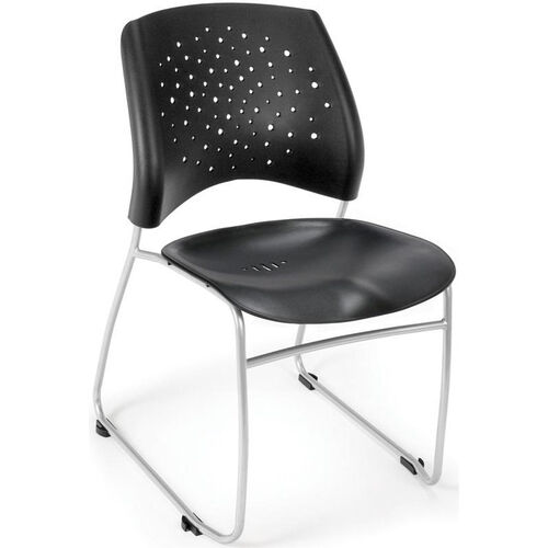 Our Stars Plastic Stack Chair - Black is on sale now.