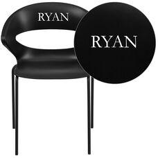 Personalized HERCULES Series 440 lb. Capacity Black Stack Chair