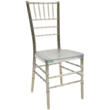 1000 lb. MAX Ice Crystal Resin Steel Core Chiavari Chair