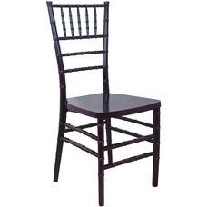Advantage Mahogany Monoblock Resin Chiavari Chair