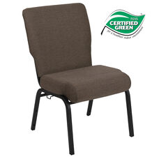 Advantage 20.5 in. Jute Molded Foam Church Chair