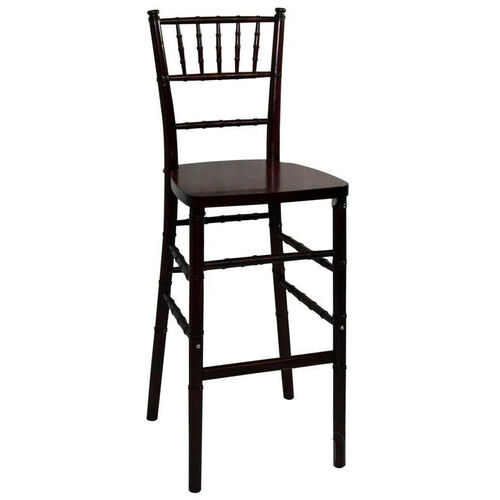 Our Legacy Series Stacking Wood Gloss Finish Chiavari Bar Stool - Fruitwood Finish is on sale now.