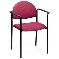 1300 Series Stacking Guest Armchair with Rounded Back and 1.5