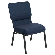 Advantage 20.5 in. Cobalt Molded Foam Church Chair