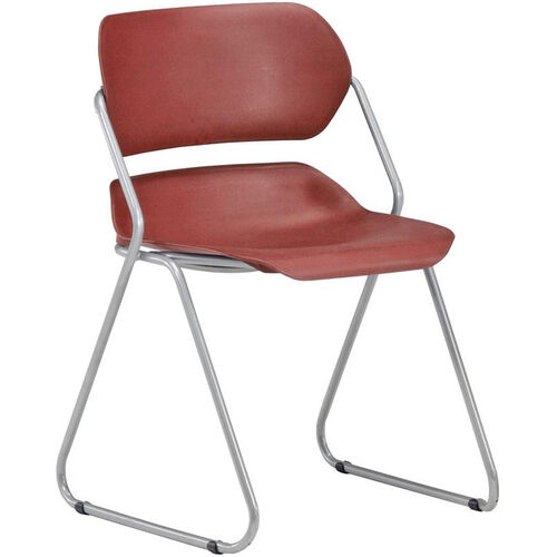 Our Martisa Armless Plastic Stack Chair - Wine Seat with Silver Frame is on sale now.