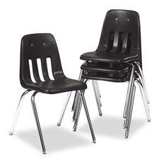 Virco® 9000 Series Classroom Chair - Black/Chrome Frame - 4/Carton