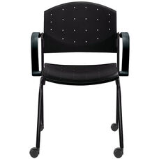 Eddy Stack Side Chair on Casters