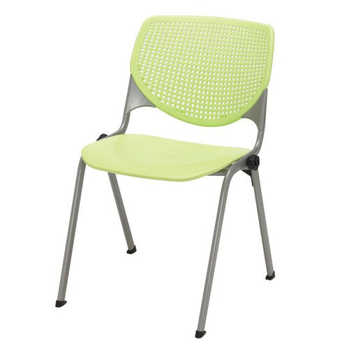 Our 2300 KOOL Series Stacking Poly Armless Chair with Perforated Back and Silver Frame - Lime Green is on sale now.
