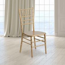 "HERCULES Series Gold Wood Chiavari Chair with <span style=""color:#0000CD;"">Free </span> Cushion"