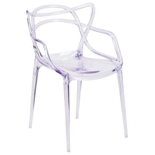 Our Nesting Series Transparent Stacking Side Chair is on sale now.