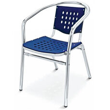 Palm Beach Collection Stackable Outdoor Arm Chair - Blue