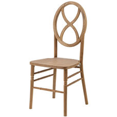 Veronique Series Stackable Sand Glass Wood Dining Chair - Tinted Raw