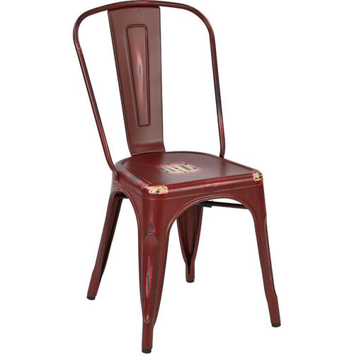 Our OSP Designs Bristow Stackable Armless Metal Chair - Set of 4 - Antique Red is on sale now.