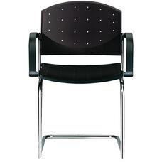 Eddy Sled Base Chrome Stack Side Chair