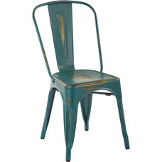 OSP Designs Bristow Armless Chair - Set of 2 - Antique Turquoise