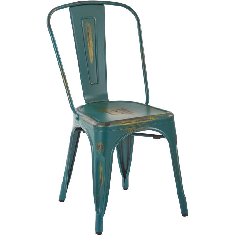 OSP Designs Bristow Armless Chair   Set Of 2   Antique Turquoise