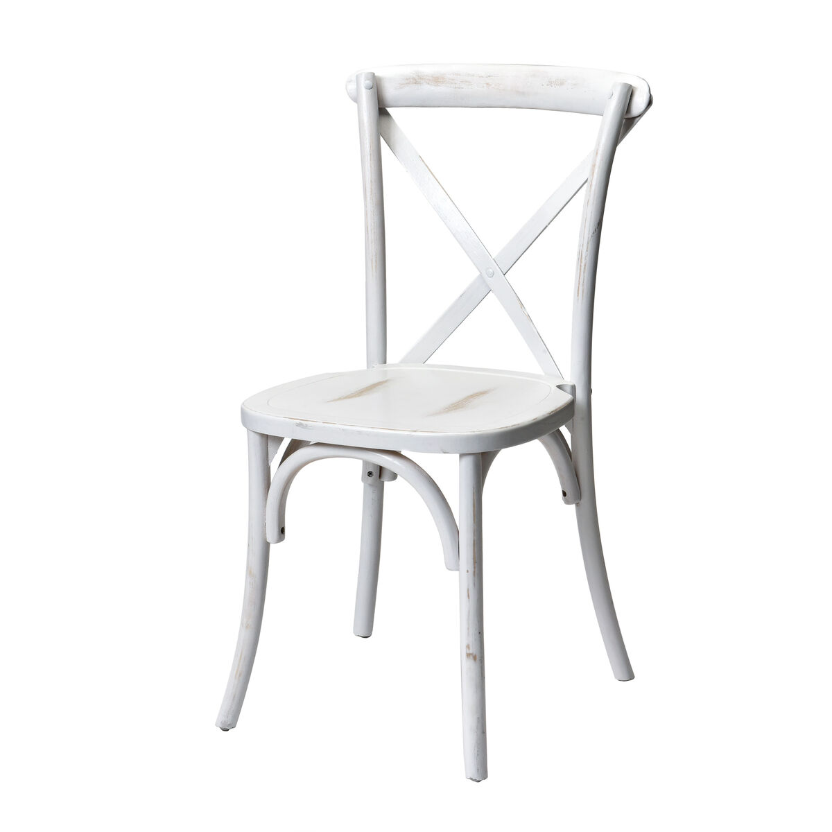 Our Rustic Sonoma Solid Wood Cross Back Stackable Dining Chair White Wash Is On