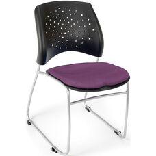 Stars Stack Chair - Plum Seat Cushion