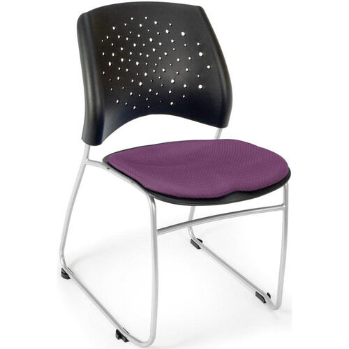 Our Stars Stack Chair - Plum Seat Cushion is on sale now.