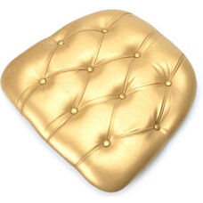 Max Chiavari Chair Wood Panel/Tufted Vinyl Cushion - Gold