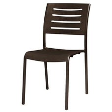 Adele Outdoor Aluminum Stackable Dining Armless Side Chair - Espresso Vein