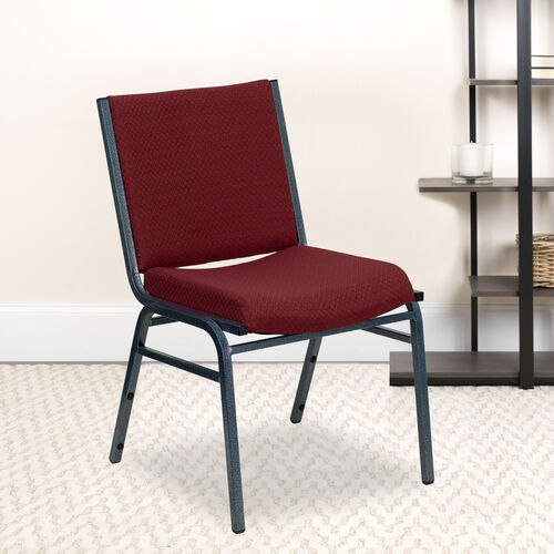 Our HERCULES Series Heavy Duty Burgundy Patterned Fabric Stack Chair is on sale now.