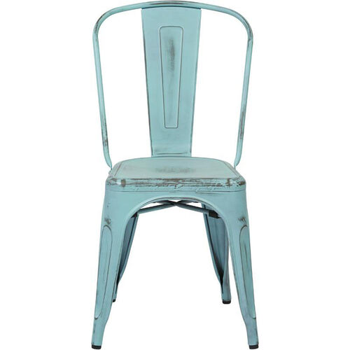 Our OSP Designs Bristow Stackable Armless Metal Chair - Set of 4 - Antique Sky Blue is on sale now.