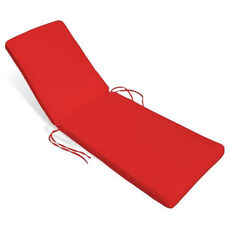 Sundance Pool Chaise Lounge Cushion - Logo Red