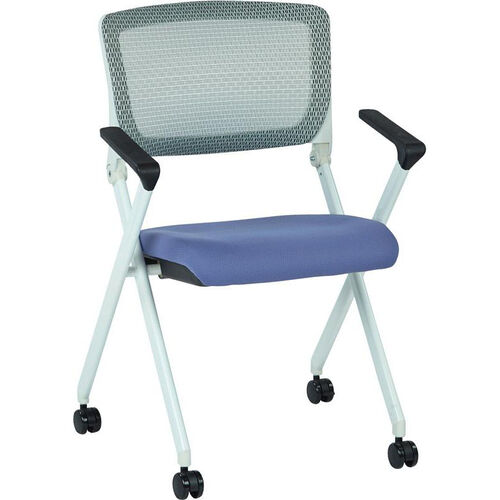 Our Space Pulsar Folding Chair with Breathable Mesh Back and Fabric Seat - Set of 2 - Violet is on sale now.
