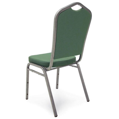 Superb Seating Heavy-Duty Steel Frame Fabric Upholstered Stacking Chair - Forest Green