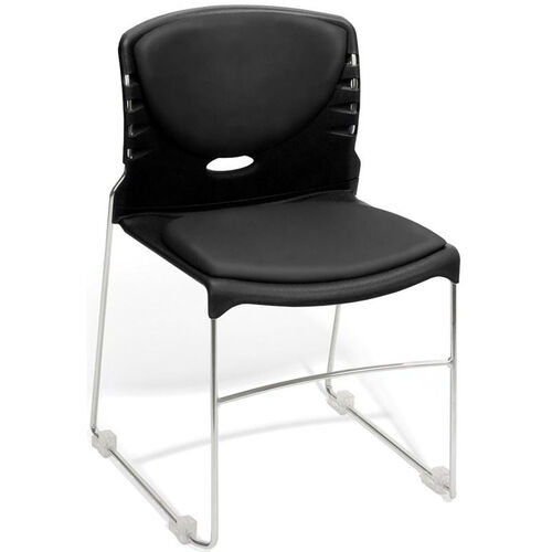 Our 300 lb. Capacity Stack Chair with Anti-Microbial and Anti-Bacterial Vinyl Seat and Back - Black is on sale now.