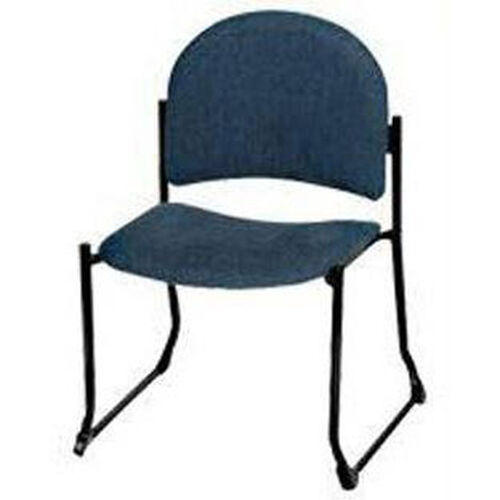 Endurance Contemporary Stack Chair with Bowed Sled Base - Crescent Back
